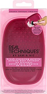 Real Techniques Heat Resistant Brush Cleansing Palette, For Removing Makeup, Oil & Impurities from Brush Bristles for a Truer, More Consistent Color Application (Packaging May Vary)
