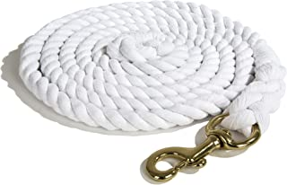 Intrepid International Heavy Duty Cotton 10 Foot Lead Rope with Brass Snap