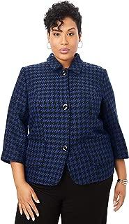 Jessica London Womens Plus Size Cropped Blazer