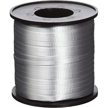 Balloon And Gift Curling Ribbon Roll - 500 yds. | Silver | 1 Pc.