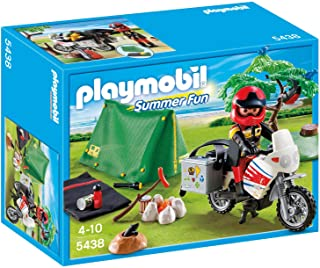 Playmobil Multicolor Biker At Campsite, 5438