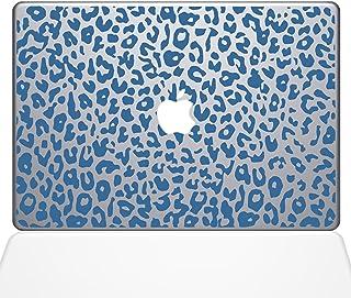 "The Decal Guru 2047-MAC-13P-LB Leopard Spots Decal Vinyl Sticker, Light Blue, 13"" MacBook Pro (2015 & Older)"