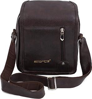 Storite Stylish PU Leather Sling Cross Body Flap Vertical Travel Office Business Messenger One Side Shoulder Bag(20x8.5x25...