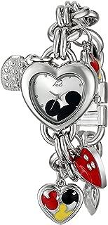 Disney MK2058 Mickey Mouse - Reloj de pulsera para mujer, con esfera de rayo de sol, color plateado