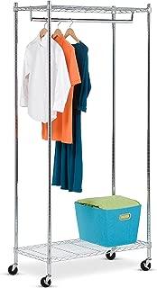 Honey-Can-Do GAR-01120 Heavy Duty Rolling Garment Rack