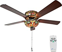 Best stained glass ceiling fan Reviews