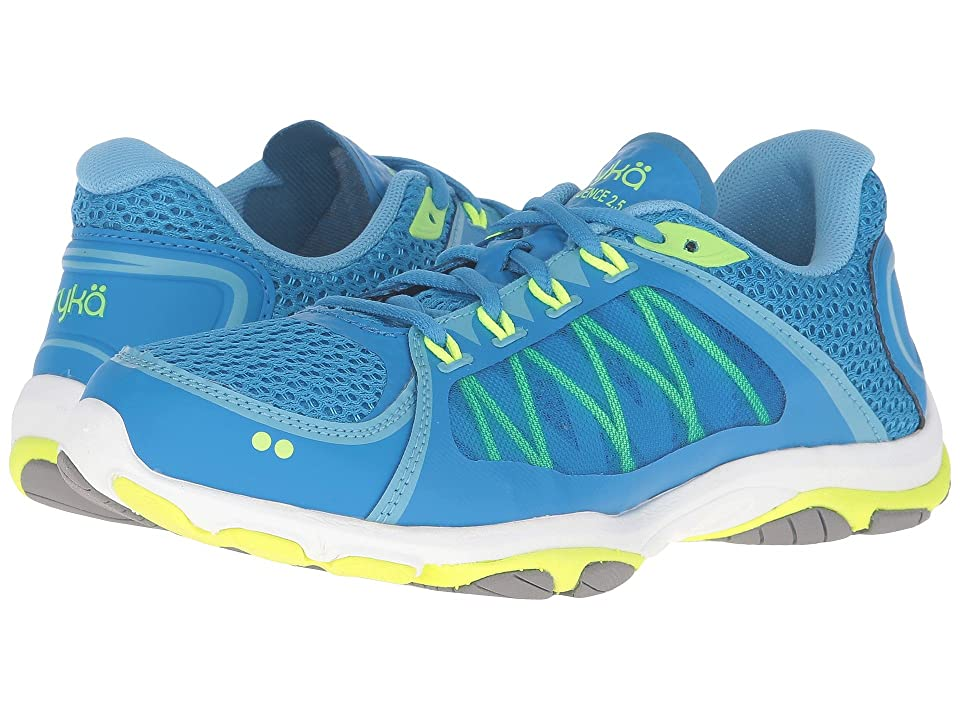 Ryka Influence 2.5 (Brilliant Blue/Ethereal Blue/Lime Shock/Frost Grey) Women