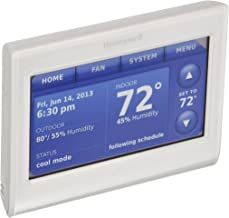 Honeywell THX9421R5021WW 2 Wire IAQ High Definition Touch Screen Thermostat with Red LINK Technology, White