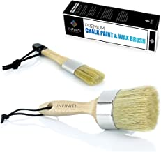 Professional Chalk and Wax Paint Brush 2PC Set!!!! Large DIY Painting and Waxing Tool | Smooth, Natural Bristles | Folk Ar...