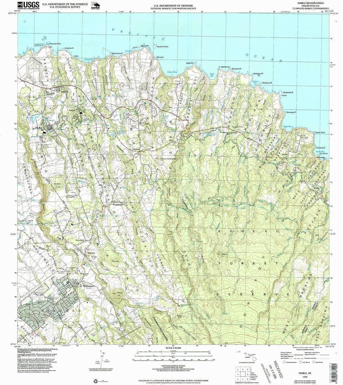 Haiku HI topo map, 1 24000 Scale, 7.5 X 7.5 Minute, Historical, 1992, Updated 1999, 27.1 x 24 in