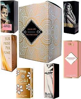 Set de 6 (seis) Perfumes para Mujer 15ml Cada uno en caja con spray. (Eau de Parfum / Eau de Toilette) En caja de regalo ORGANITERRA®