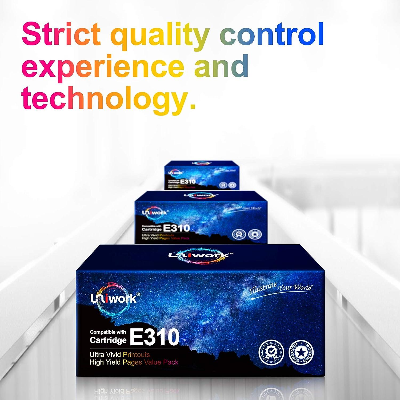 Uniwork Compatible Toner Cartridge Replacement for Dell E310dw P7RMX PVTHG 593-BBKD E310 E514 E515 use for E310DW E515DW E514DW E515DN Printer Tray, 4 Black
