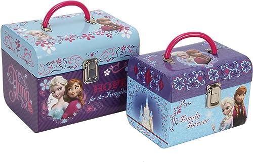 Disney Frozen Schminkkoffer 2er Set mit Falt Griffen - Mit Anna & Elsa - DI138