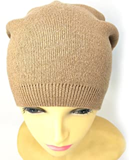 Women Wool Kint Caps Winter Warm Stretch Knit Slouchy Beanie Hat Knitted Cap by MeliMe (Camel)