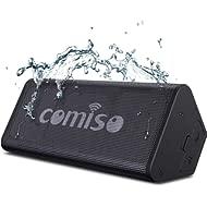 COMISO Bluetooth Speakers, IPX7 Waterproof Wireless Portable Speaker Loud Crystal Clear Stereo...