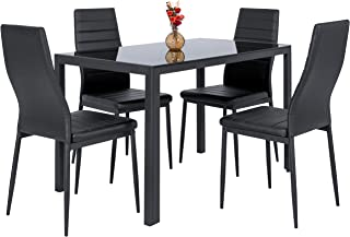 Amazoncom Metal Table Chair Sets Kitchen Dining Room