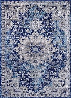 Luxe Weavers Manhattan Collection Oriental 9x12 Blue Area Rug 2527