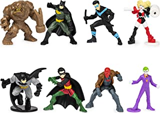 Batman, 2-inch Scale 8-Pack of Collectible Mini Batman Action Figures (Amazon Exclusive), for Kids Aged 3 and up