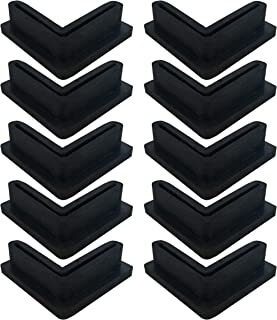 Angle Iron L Shaped Rubber Foot Pads Covers for Shelving 10 Pack