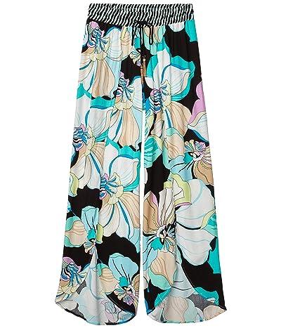 Trina Turk Sintra Flora Split-Leg Beach Pants Swimsuit Cover-Up (Multi) Women