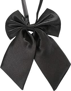 Ladies Adjustable Pre tied Bowtie - Solid Color Bow Ties for Women