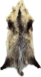 Professionally Tanned Opossum Fur Pelt - 1 Pelt