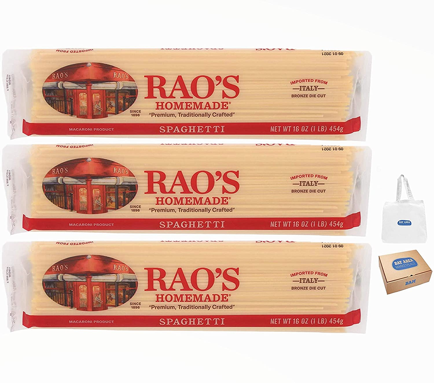 Rao's Pasta Spaghetti favorite Year-end gift 16 Ounce Pack of 3