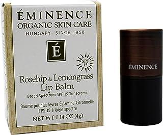 Eminence Organic Skincare Rosehip & Lemongrass Lip Balm SPF 15, 0.14 Ounce