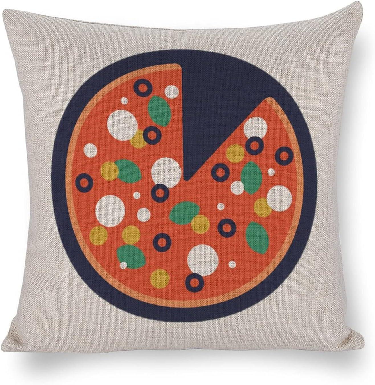 UTF4C Max 51% OFF Font Illustration Button Pizza Linen Cotton Ranking TOP14 Sofa Cushion H