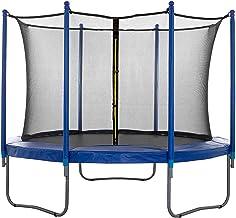 SPRINGOS Veiligheidsnet binnennet voor trampoline, 244 cm, 6 palen, valbeschermingsnet, bescherming, trampoline-net, kabel...