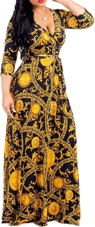FANDEE Plus Size Maxi Dress for Max 84% OFF Women Nashville-Davidson Mall Summer Sundress Casual V-N