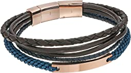 Fossil Vintage Casual Steel Multi-Strand Bracelet