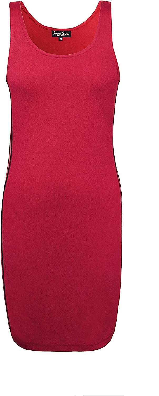 KaiLuClothing Summer Women's New Black Fashion Simple Striped Sleeveless Vest Dress