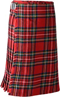 Scottish Mens Kilt Traditional Highland 5 Yard 10 oz Tartan Sporran