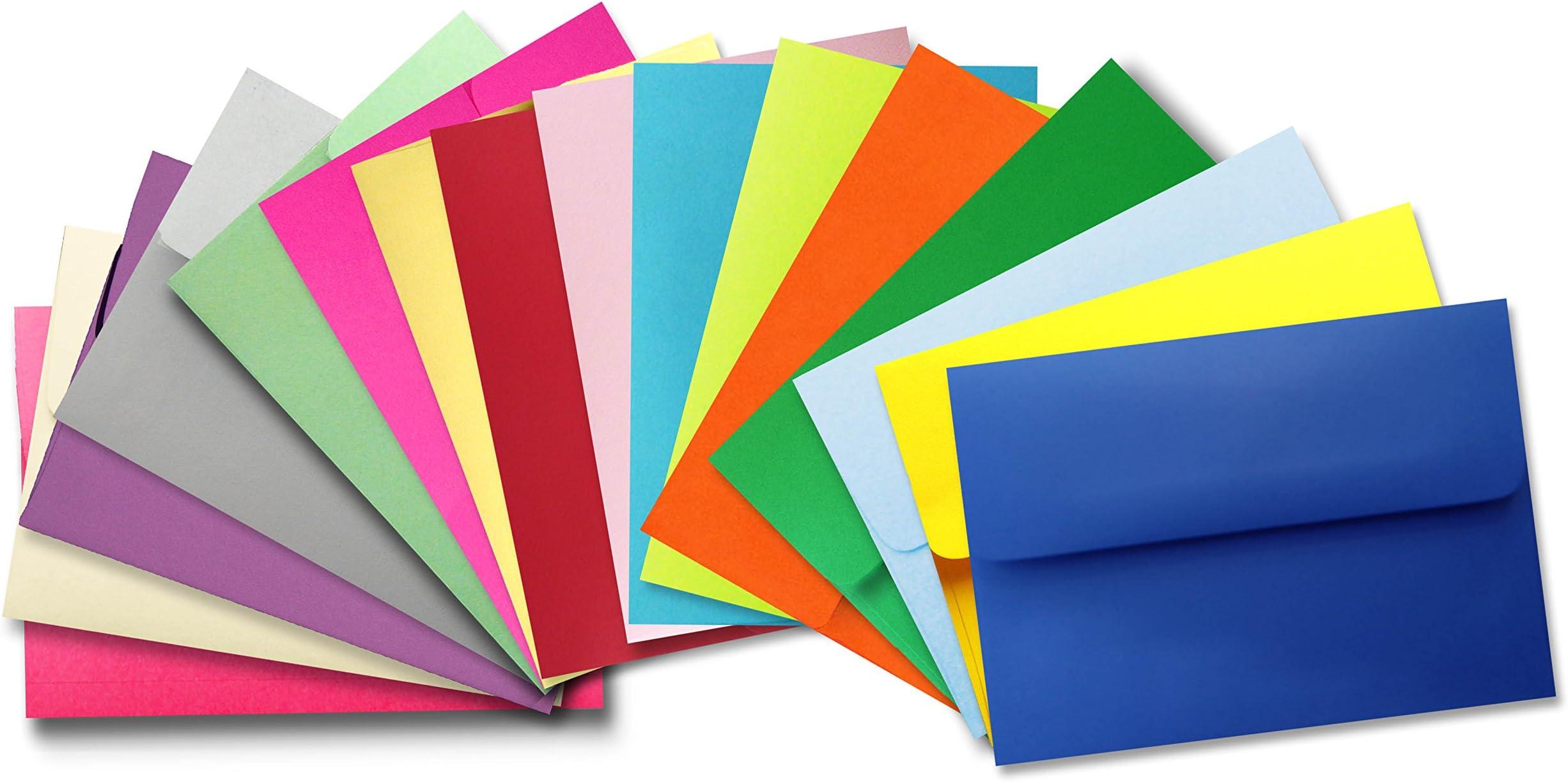 A2 Envelopes  Card Envelopes  Pattern Envelopes  Blank Stationery  Assorted Patterns in Various colors Set of 10