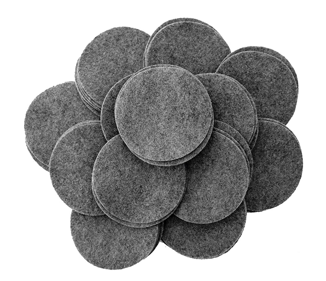 Playfully Ever After 4 Inch Charcoal Gray 19pc Felt Circles
