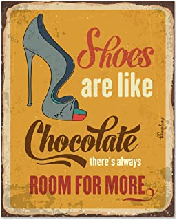 Bhai Please Shoes are Like Chocolate There's Always Room for More Wooden Fridge Magnet (Pack of 1 pc) Size:4x3 inches- Fun...