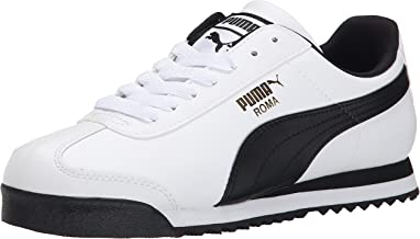 PUMA Men's Roma Basic Fashion Sneaker, White/Black Leather - 10.5 D(M) US