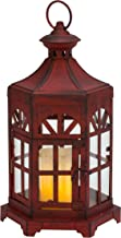 Biedermann & Sons Antique Lantern Candle Holder, Red