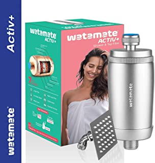 Watamate Activ+ Bathroom Shower and Tap Filter with 7 Layer Filter Technology for Hard Water with Shower Head