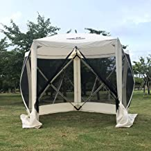 THUNDERBAY Pop-Up Portable Screen Tent, 5-Sided Hub Gazebo, 4 Person Screen House, Easy Install Canopy