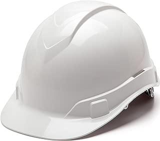 Pyramex Ridgeline Cap Style Hard Hat, 6-Point Ratchet Suspension, White