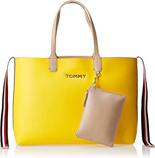 Tommy Hilfiger Tote Bag for Women-Cyber yellow - Warm Sand