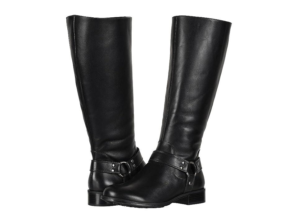 Walking Cradles Kristen Extra Wide Calf (Black) Women's  Shoes