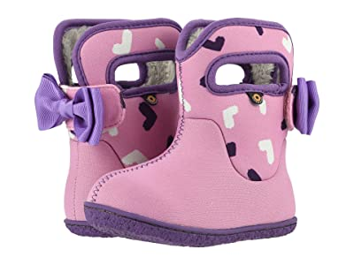 Bogs Kids Baby Bogs Hearts (Toddler) (Pink Multi) Girls Shoes