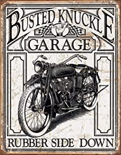 Desperate Enterprises Busted Knuckle Garage Vintage Tin Sign, 12.5