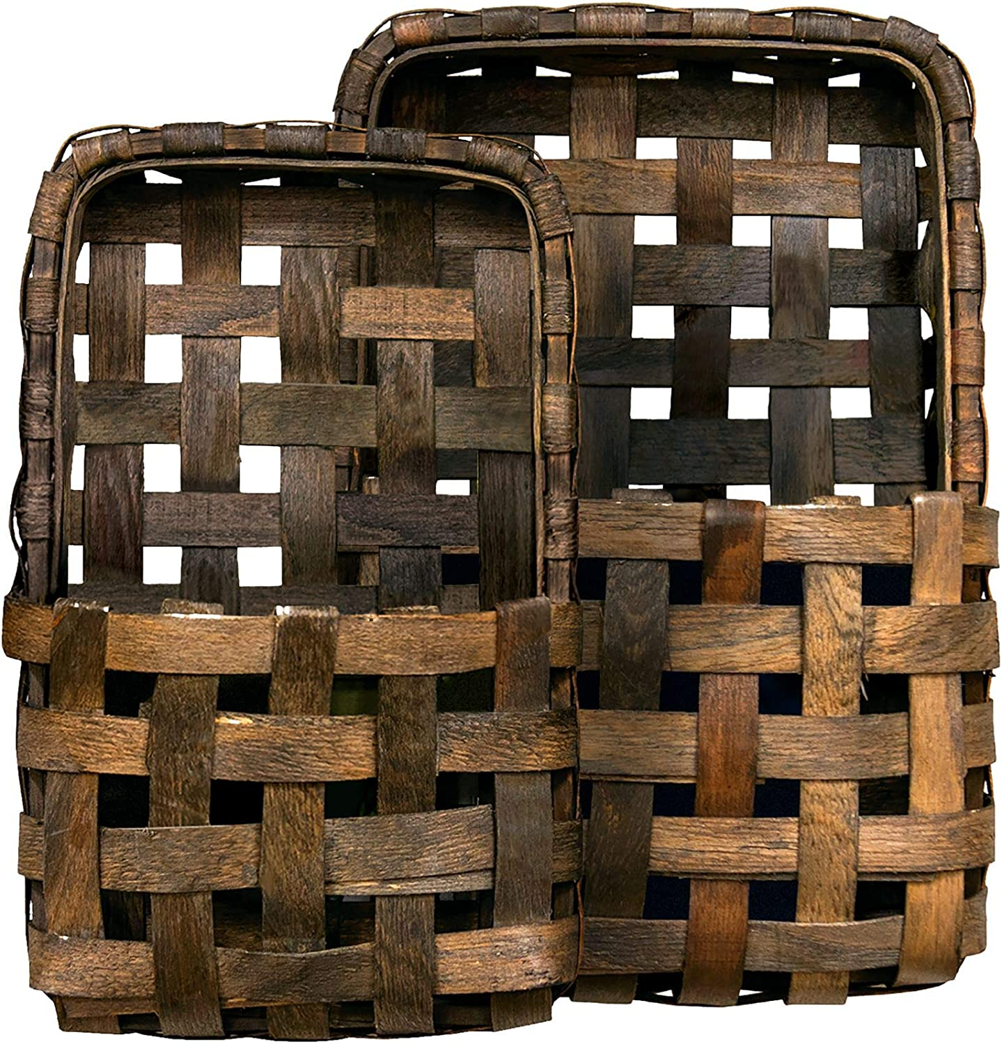 CWI Gifts sold out Brown Tobacco Award Wall 2 Multi Set Baskets Pocket