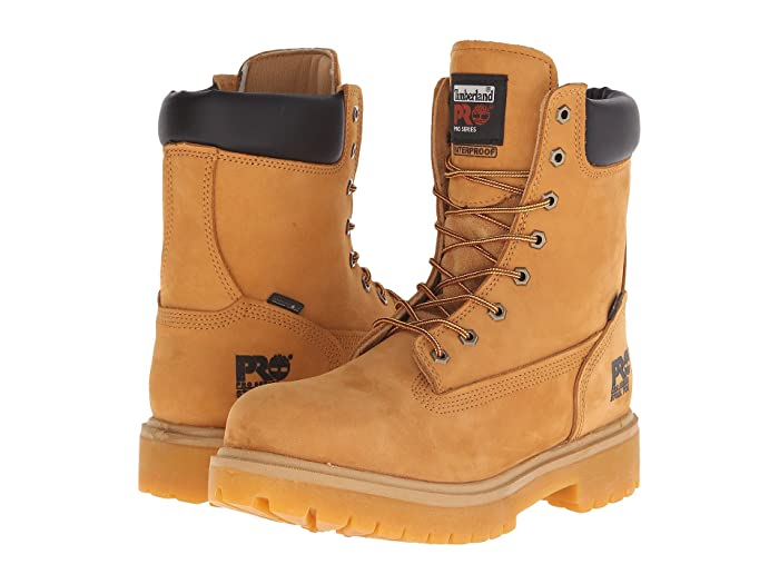 Timberland PRO  Direct Attach 8 Steel Toe (Wheat Nubuck Leather) Mens Work Lace-up Boots