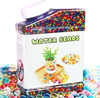 Elongdi Water Beads Pack Rainbow Mix Over 50,000 Beads Growing Balls, Jelly Water Gel..