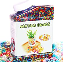 ELONGDI Water Beads Pack Rainbow Mix Over 50,000 Orbies Beads Growing Balls, Jelly Water Gel Beads for Spa Refill, Kids Sensory Toys, Vases, Plant, Wedding and Home Decor